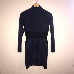Stella McCartney Purple Houndstooth Dress